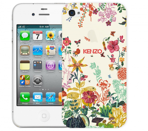 Чехол «Kenzo Flowers» для Apple iPhone 4/4s