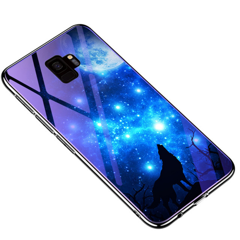 TPU+Glass чехол Fantasy с глянцевыми торцами для Samsung Galaxy S9