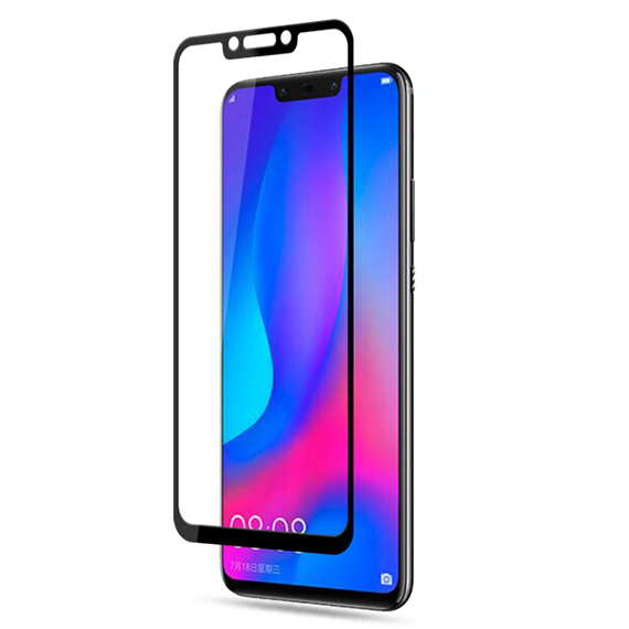 Защитное цветное стекло Mocolo (full glue) на весь экран для Huawei Nova 3