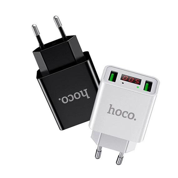 Сетевое ЗУ Hoco C25A Led Display 2USB 2.2A max