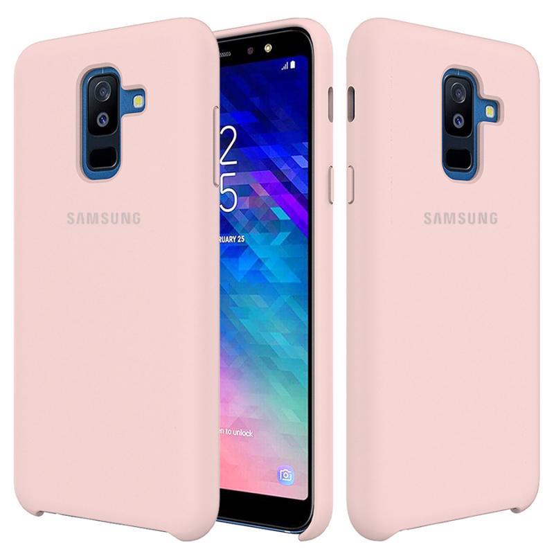 Чехол Silicone Cover (AA) для Samsung Galaxy A6 Plus (2018)