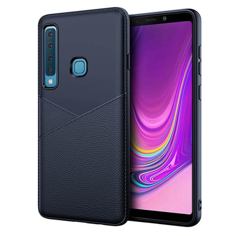 TPU чехол с имитацией кожи Leather Half для Samsung Galaxy A9 (2018)