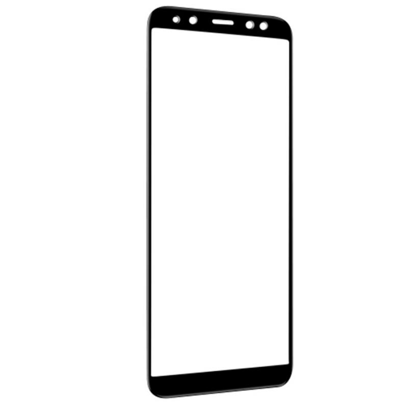 Защитное цветное стекло Mocolo (full glue) на весь экран для Samsung A730 Galaxy A8+ (2018)