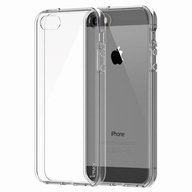 TPU чехол iPaky Clear Series (+стекло) для Apple iPhone 5/5S/SE