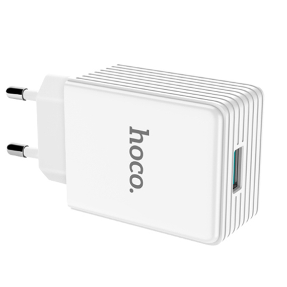 Сетевое ЗУ Hoco C34A QC3.0 1USB 5V-12V