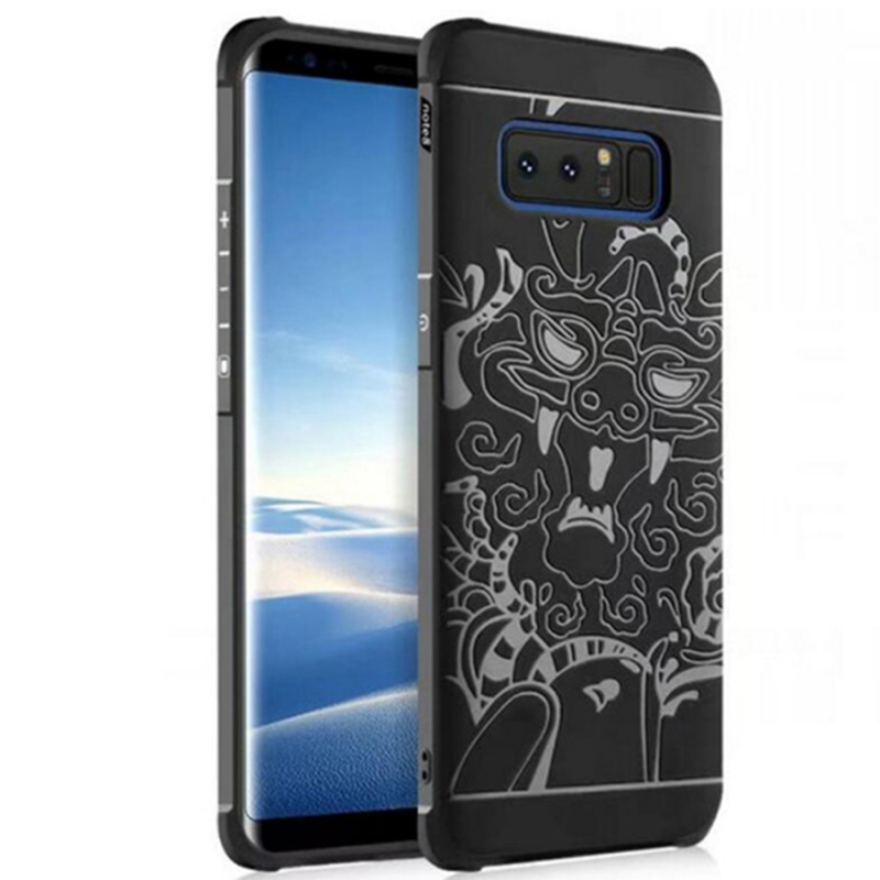 TPU+PC чехол Черный дракон для Samsung Galaxy Note 8