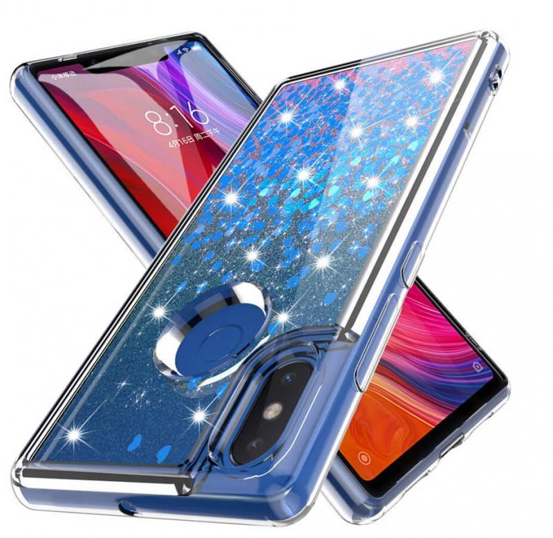 TPU чехол Liquid hearts для Xiaomi Mi 8