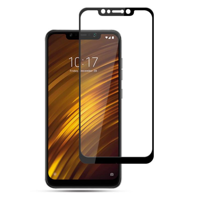 Защитное цветное стекло Mocolo (full glue) на весь экран для Xiaomi Pocophone F2