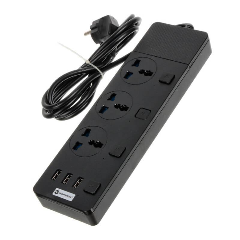 Удлинитель Power Socket MB-W11 (3xUSB/3xSocket)