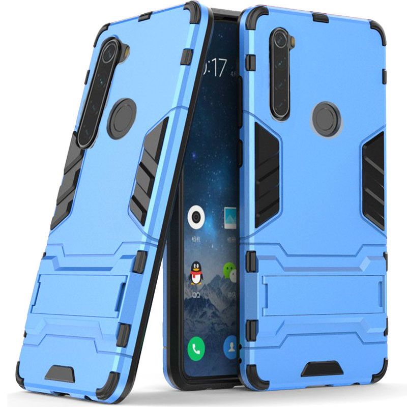 Ударопрочный чехол-подставка Transformer для Xiaomi Redmi Note 8 с мощной защитой корпуса
