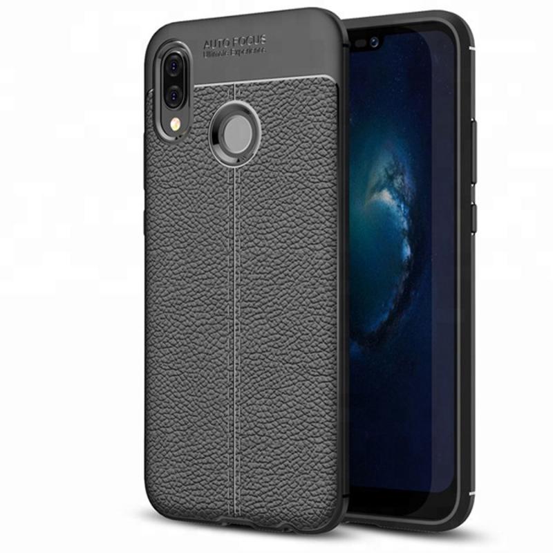TPU чехол iPaky Litchi Series для Huawei Honor 10i