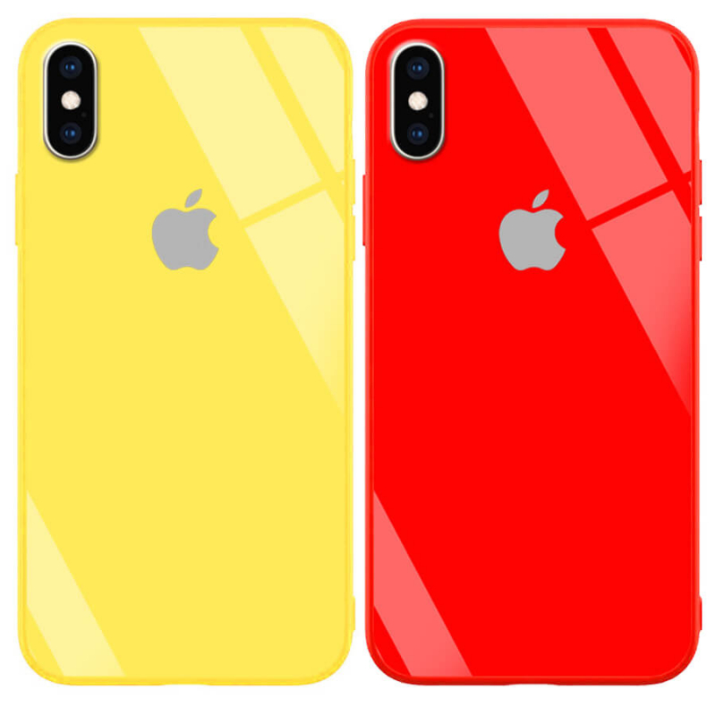 "TPU+Glass чехол GLOSSY Logo series для Apple iPhone X (5.8"") / XS"