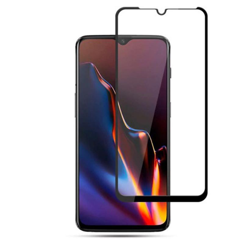 Защитное цветное стекло Mocolo (full glue) на весь экран для OnePlus 7