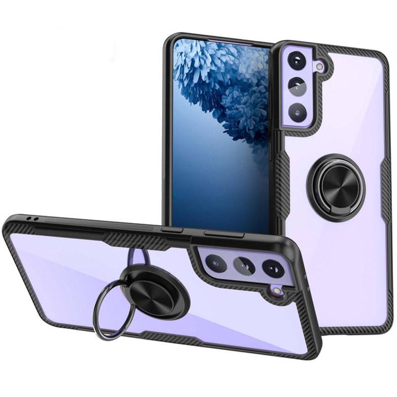 TPU+PC чехол Deen CrystalRing for Magnet (opp) для Samsung Galaxy S21