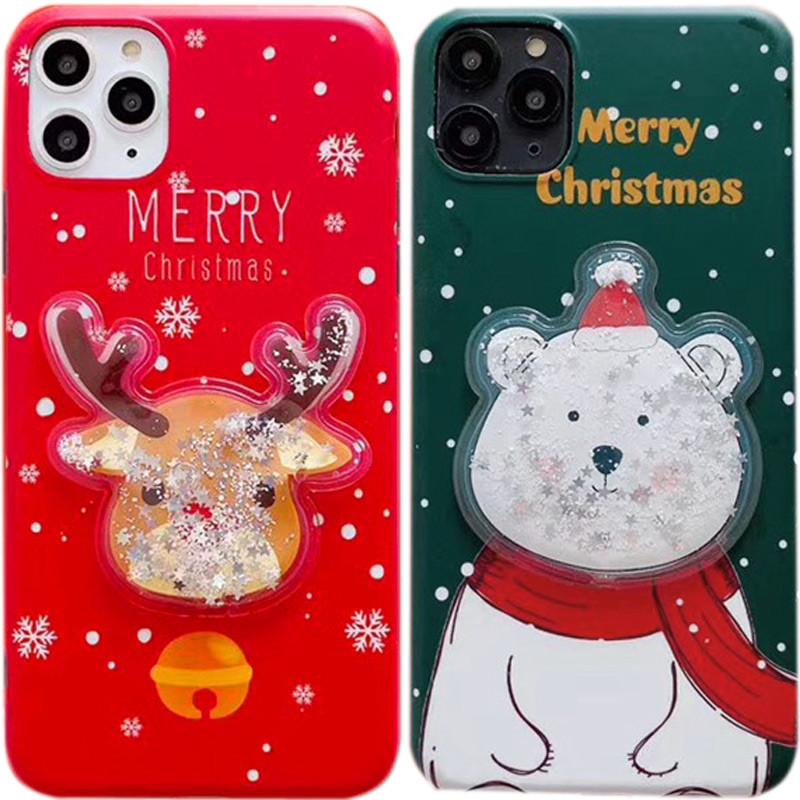 "TPU чехол Merry Christmas с жидкостью для Apple iPhone 11 Pro (5.8"")"