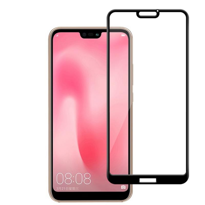 Защитное цветное стекло Mocolo (CP+) на весь экран для Huawei P20 Lite