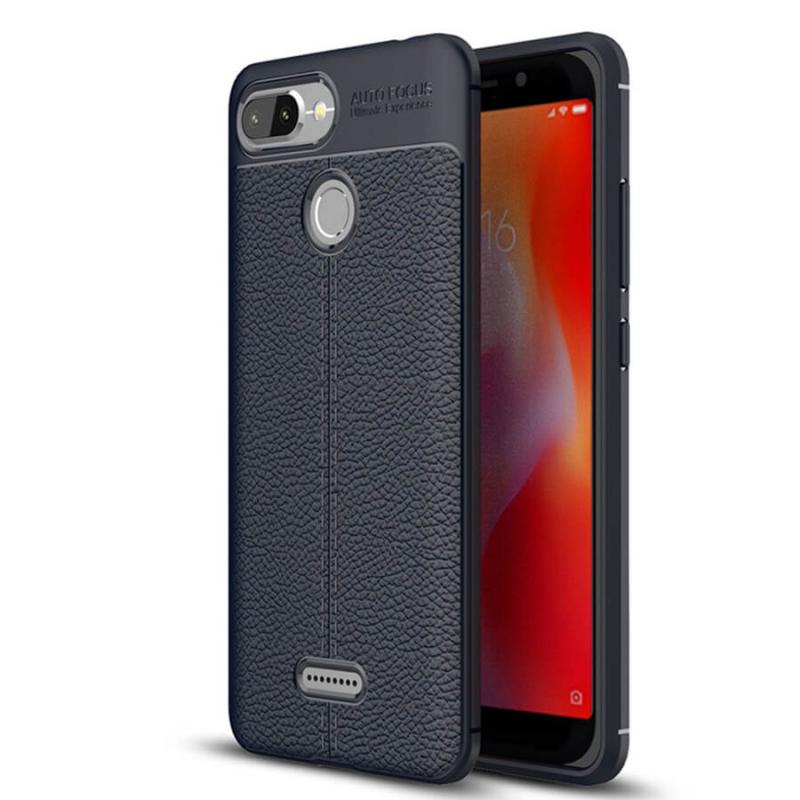 TPU чехол фактурный (с имитацией кожи) для Xiaomi Redmi 6