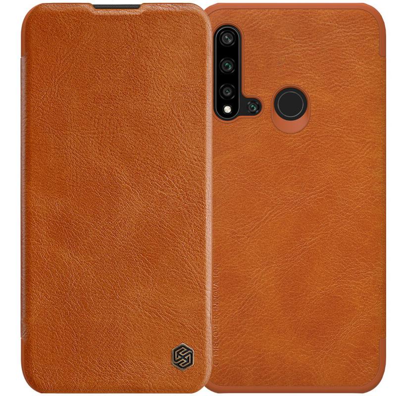Кожаный чехол (книжка) Nillkin Qin Series для Huawei Nova 5i / P20 lite (2019)