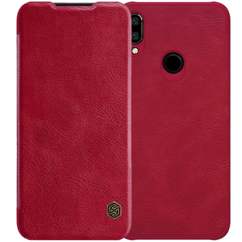 Кожаный чехол (книжка) Nillkin Qin Series для Xiaomi Redmi Note 7 / Note 7 Pro / Note 7s