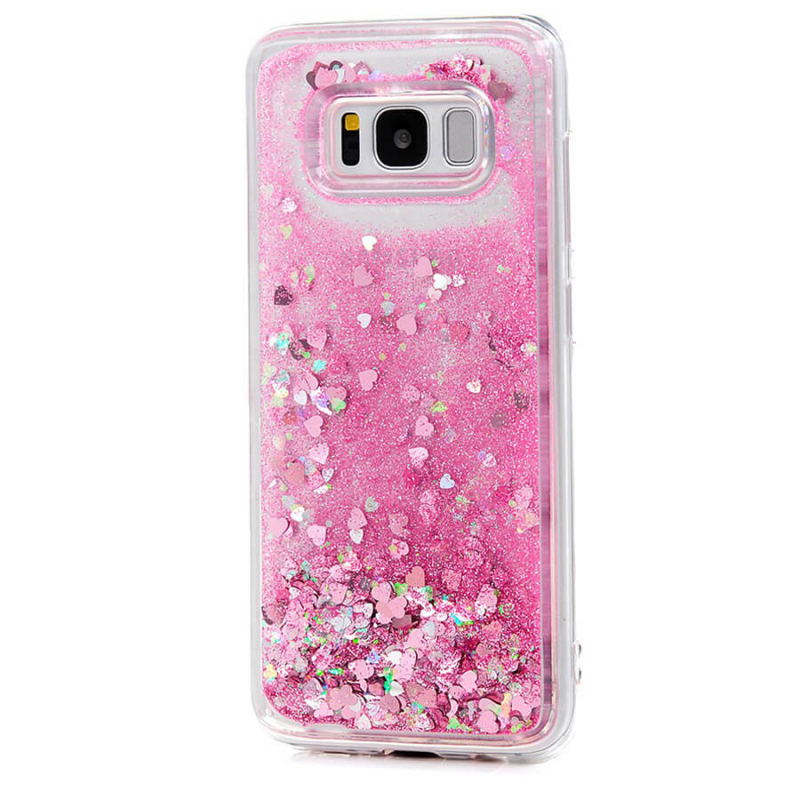 TPU чехол Liquid hearts для Samsung G950 Galaxy S8