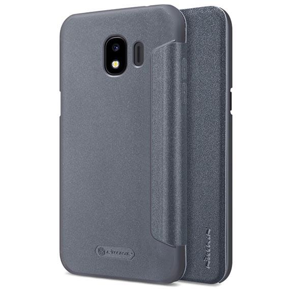 Кожаный чехол (книжка) Nillkin Sparkle Series для Samsung J250F Galaxy J2 Pro (2018)