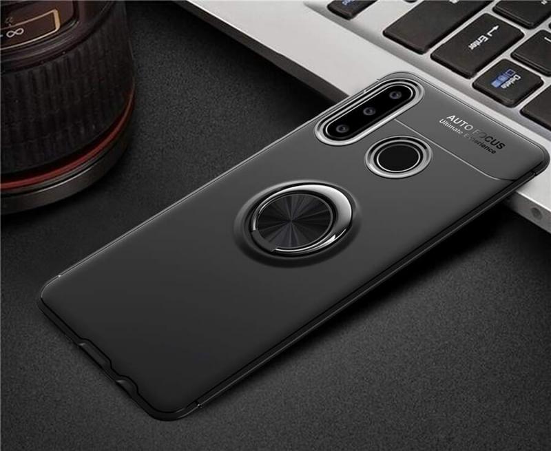 TPU чехол Deen ColorRing под магнитный держатель для Huawei P30 lite