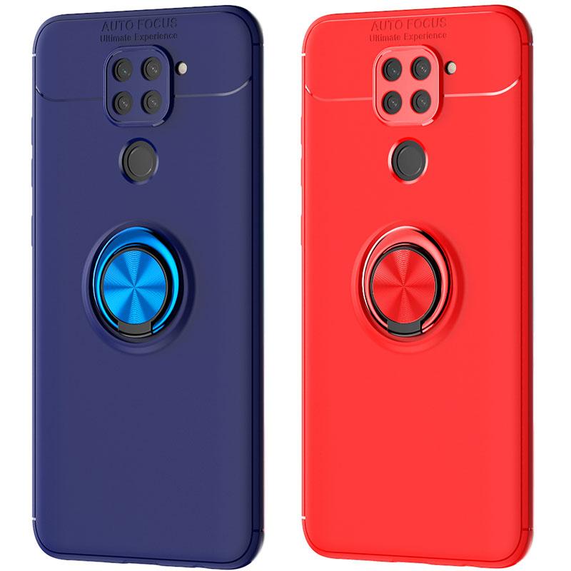 TPU чехол Deen ColorRing под магнитный держатель (opp) для Xiaomi Redmi Note 9 / Redmi 10X