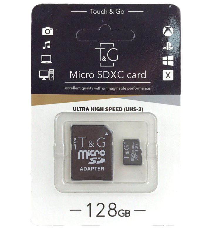 Карта памяти T&G microSDHC 128 GB class 10 (с адаптером)