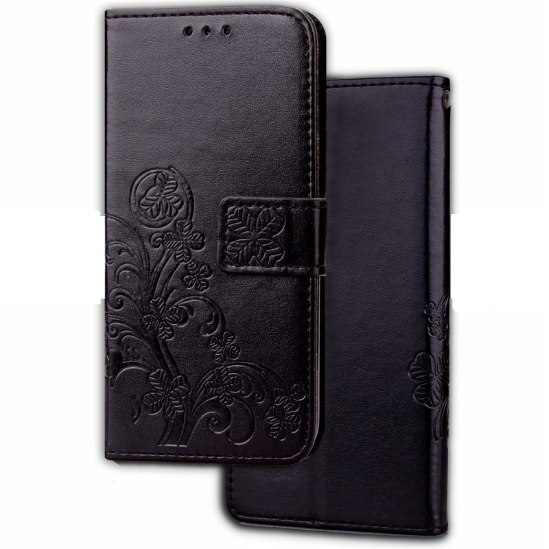 Кожаный чехол (книжка) Four-leaf Clover для HTC Desire 12