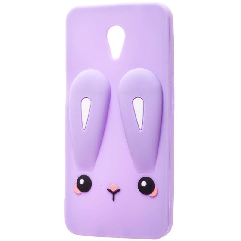 Силиконовая накладка 3D Child Bunny для Meizu M3 / M3 mini / M3s