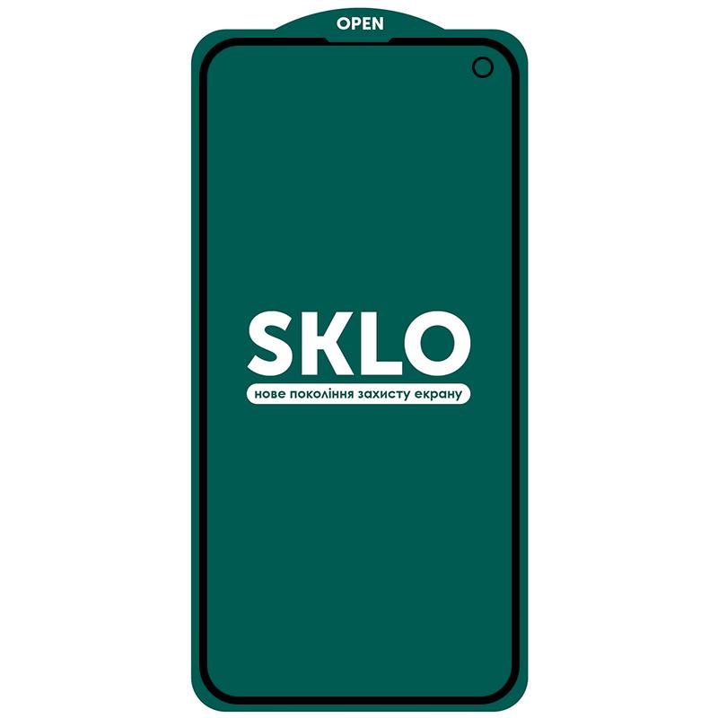 Защитное стекло SKLO 5D (full glue) для Samsung Galaxy S10e