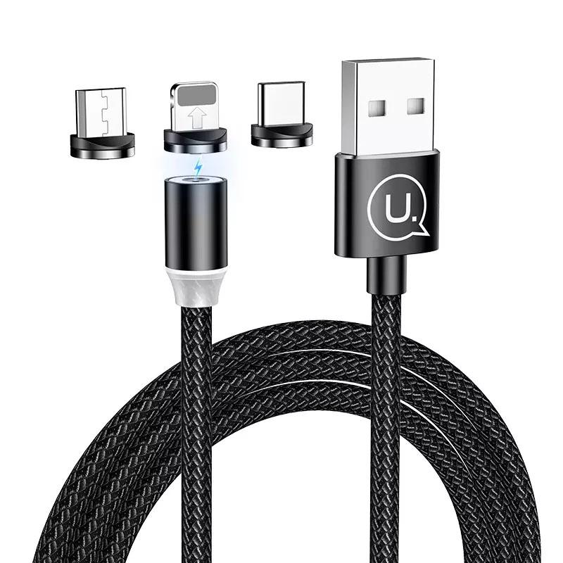 Дата кабель Usams US-SJ438 U-Sure Magnetic 3in1 Combo (1m)