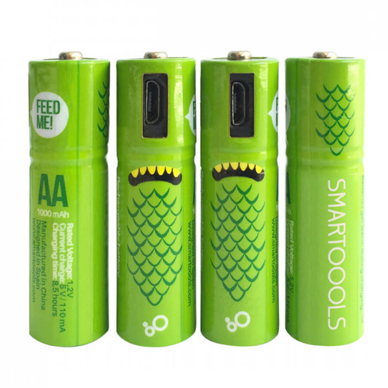 Аккумуляторные батарейки Smartoools AA 1000 mah 4 pcs