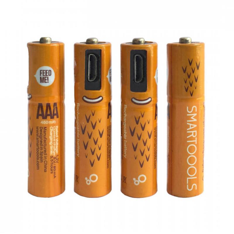 Аккумуляторные батарейки Smartoools AAA 450 mah 4 pcs