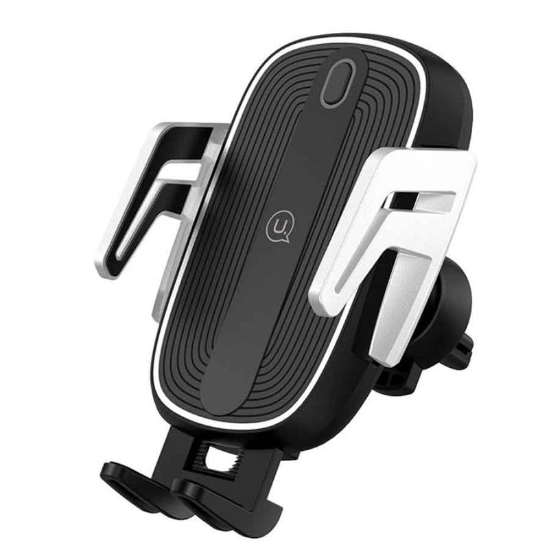 Автодержатель с БЗУ USAMS US-CD100 Automatic Touch Induction Wireless Charging (Air Vent)