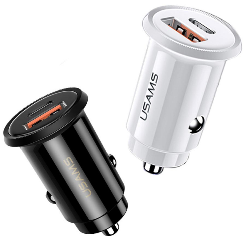 АЗУ USAMS US-CC086 C12 QC4.0+PD3.0 Fast Charging Car Charger