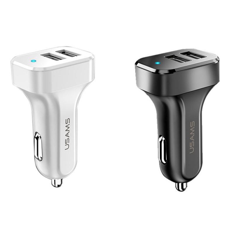 АЗУ USAMS US-CC087 C13 2.1A Dual USB Car Charger