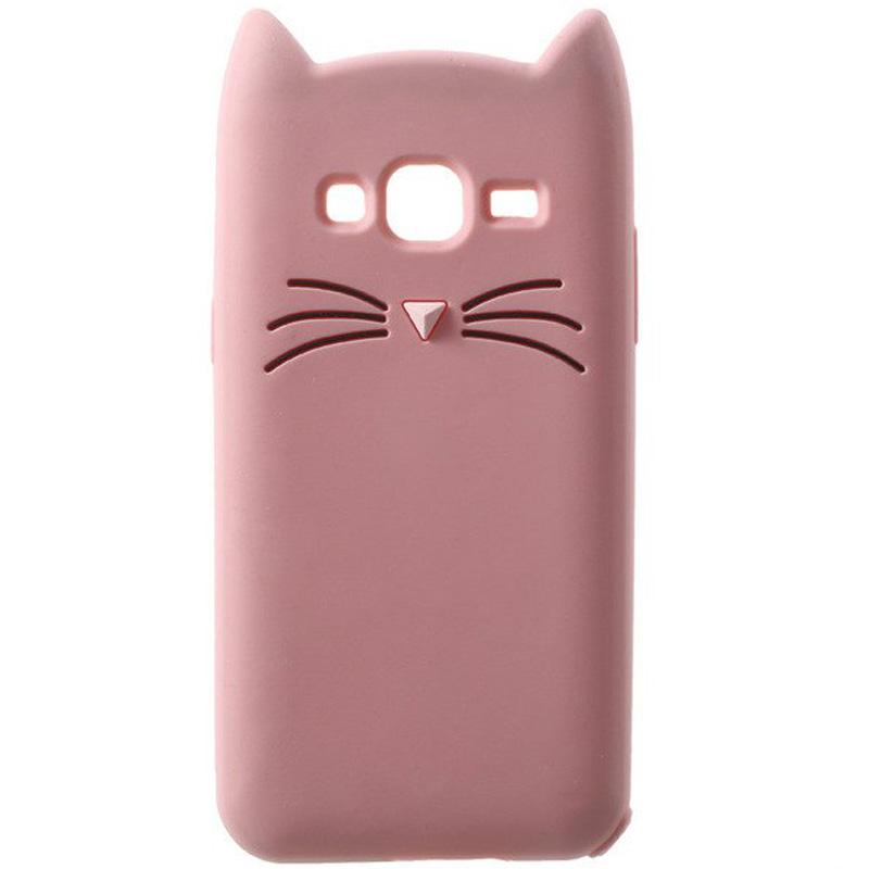Силиконовая накладка 3D Cat для Samsung J120F Galaxy J1 (2016)