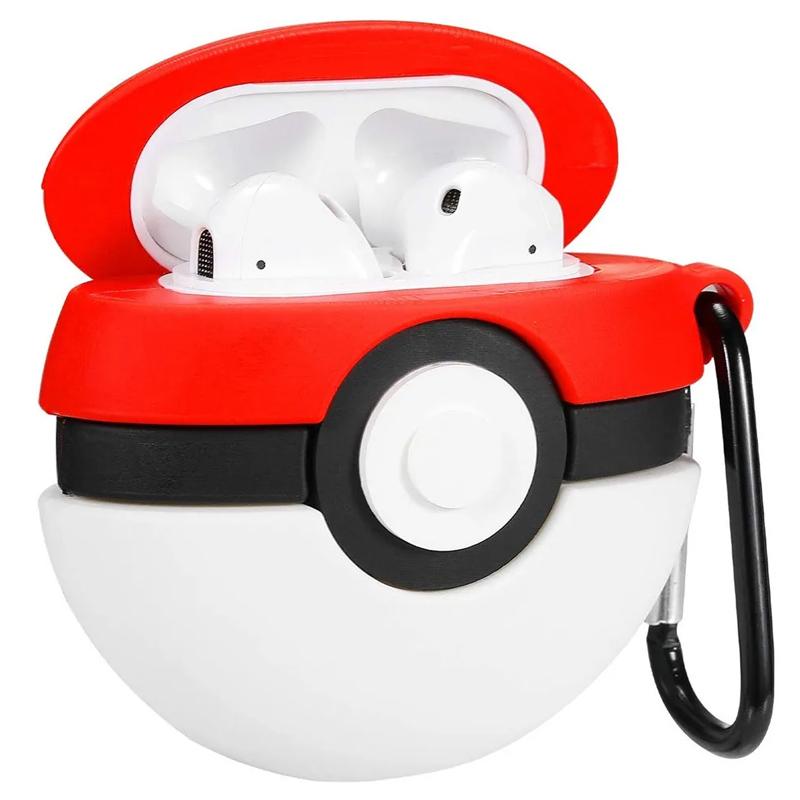 Силиконовый футляр Pokemon series для наушников AirPods + карабин