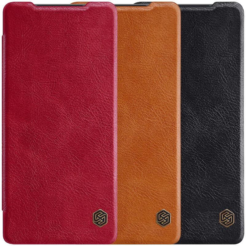 Кожаный чехол (книжка) Nillkin Qin Series для Samsung Galaxy Note 20