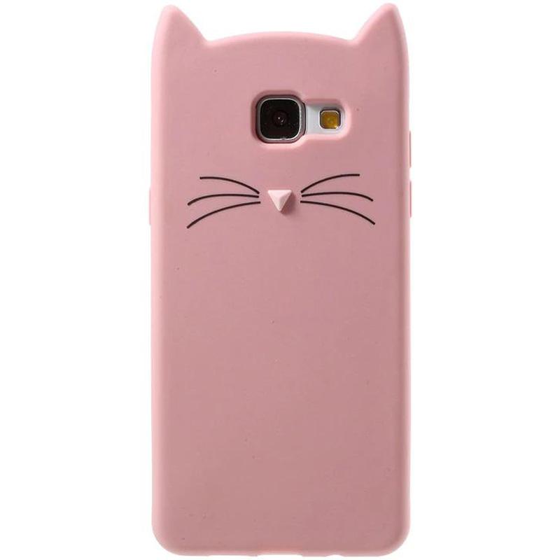 Силиконовая накладка 3D Cat для Samsung A720 Galaxy A7 (2017)