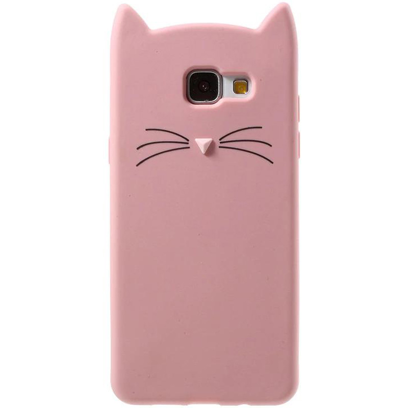 Силиконовая накладка 3D Cat для Samsung A710F Galaxy A7 (2016)