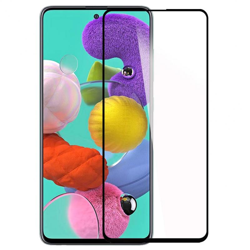 Защитное цветное стекло Mocoson 5D (full glue) для Samsung Galaxy A21s