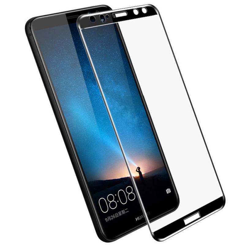 Защитное цветное стекло Mocolo (full glue) на весь экран для Huawei Mate 10 Lite