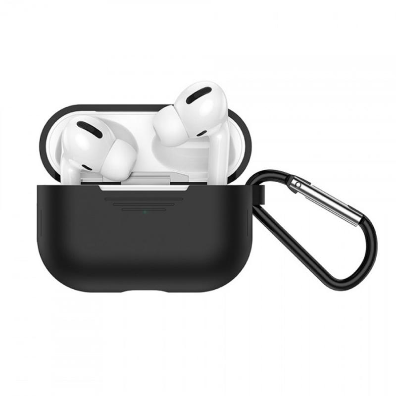 Bluetooth гарнитура HOCO ES38 + чёрный силиконовый футляр