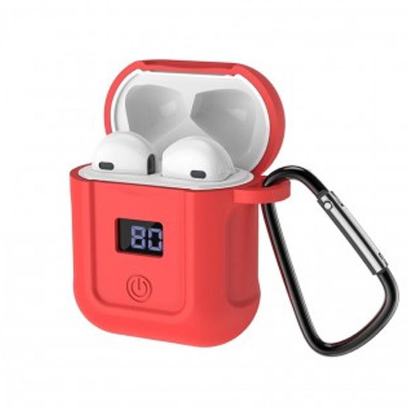 Bluetooth гарнитура HOCO S11 + красный силиконовый футляр
