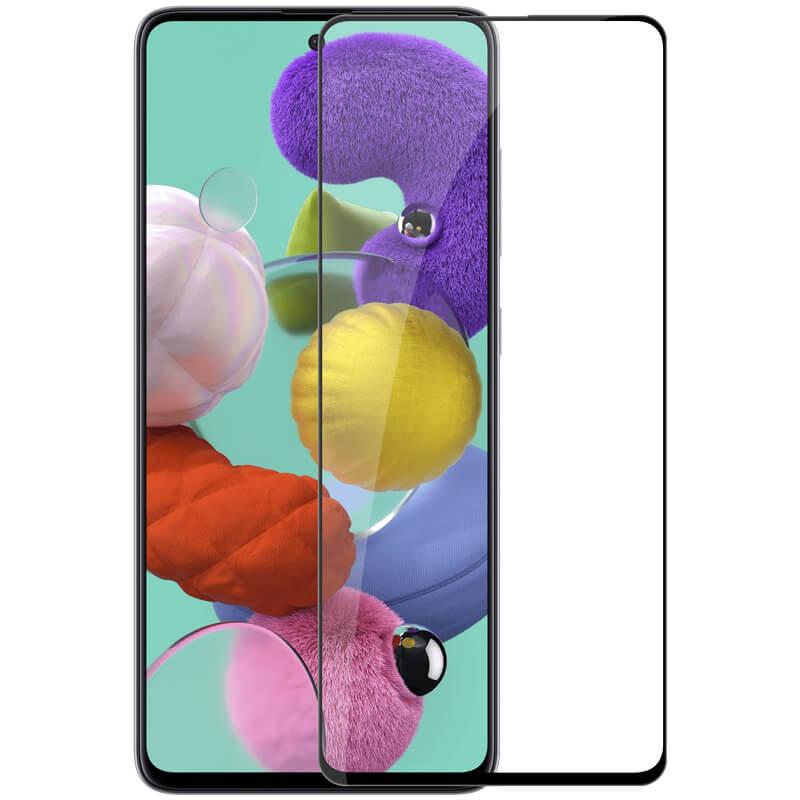 Гибкое защитное стекло Nano (full glue) (без упак.) для Samsung Galaxy A71