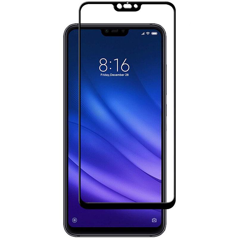 Защитное цветное стекло Mocoson (full glue) на весь экран для Xiaomi Mi 8 Lite / Mi 8 Youth (Mi 8X)