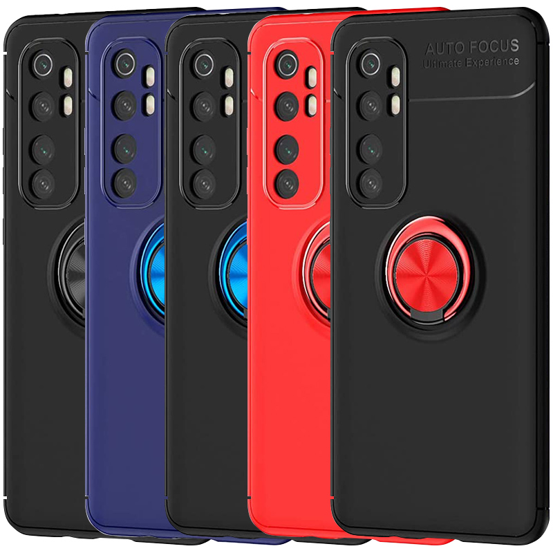 TPU чехол Deen ColorRing под магнитный держатель (opp) для Xiaomi Mi Note 10 Lite