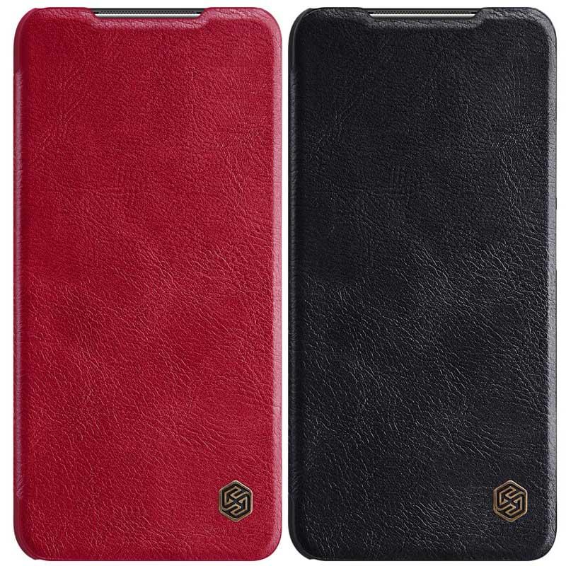 Кожаный чехол (книжка) Nillkin Qin Series для Xiaomi Poco M3